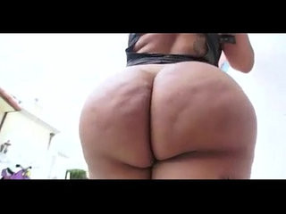 Latina MILF Leather Outfit Showing off Huge Fat Ass