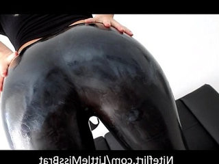 Beautiful Mistress Showing Her Big Ass in Latex