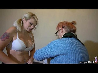 Oldnanny young and old lesbian couple with sextoy