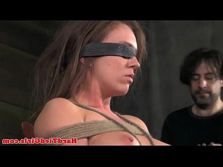 Tied up Maddy O Reilly moans