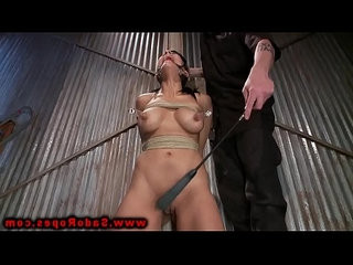 Tied up brunettes master dominates her as she sits helplessly
