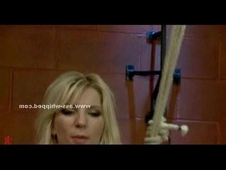 Blonde lesbian sex slave strapon sex