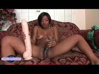 horney black chick squats on big toys free xxx cam