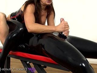 Femdom Handjob from Mistress Angelina
