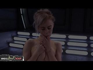 Teen solo babe cumming during machine sex