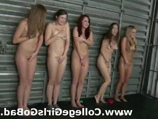 Naked wrestling for lesbian sorority teen girls