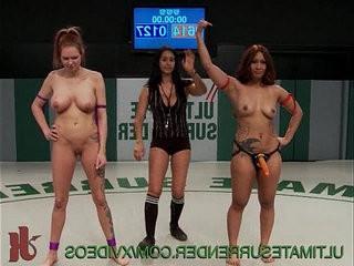 Lesbian fucks with a strapon
