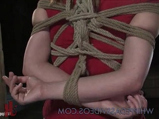 Pretty chestnut babe bondage and fucked